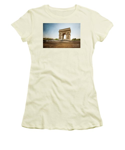 Women's T-Shirt (Junior Cut) featuring the photograph Arc De Triumph by Hannes Cmarits