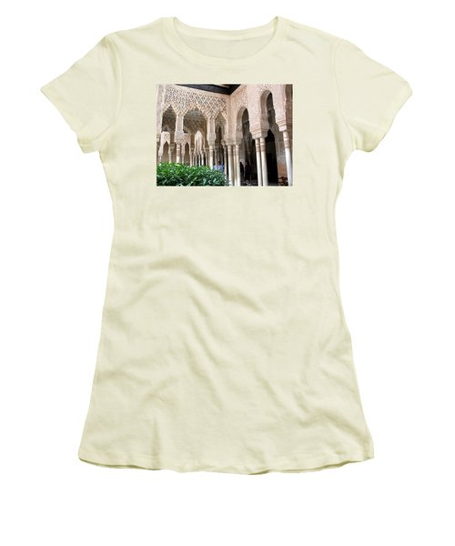 Arches And Columns Granada Women's T-Shirt (Junior Cut) by Jacqi Elmslie