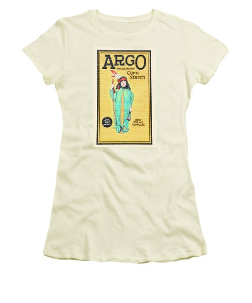 Argo Corn Starch Wall Advertising Women's T-Shirt (Athletic Fit)