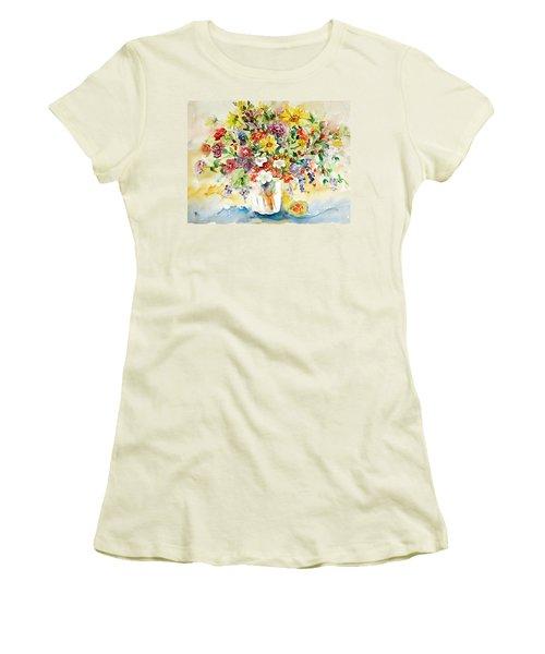 Arrangement IIi Women's T-Shirt (Junior Cut) by Alexandra Maria Ethlyn Cheshire