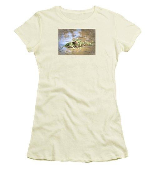 Artistic Lifeguard Women's T-Shirt (Junior Cut) by Leif Sohlman