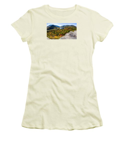Artists Bluff, Franconia Notch Women's T-Shirt (Athletic Fit)
