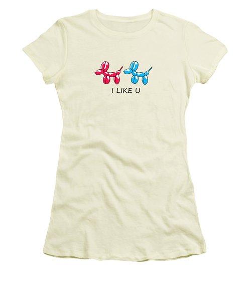 I Like You 2 Women's T-Shirt (Junior Cut) by Mark Ashkenazi