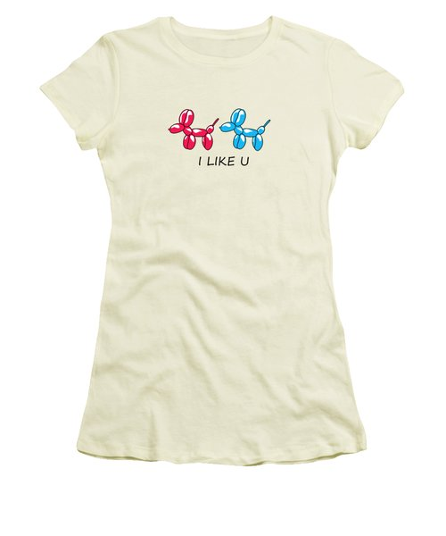 I Like You 2 Women's T-Shirt (Athletic Fit)