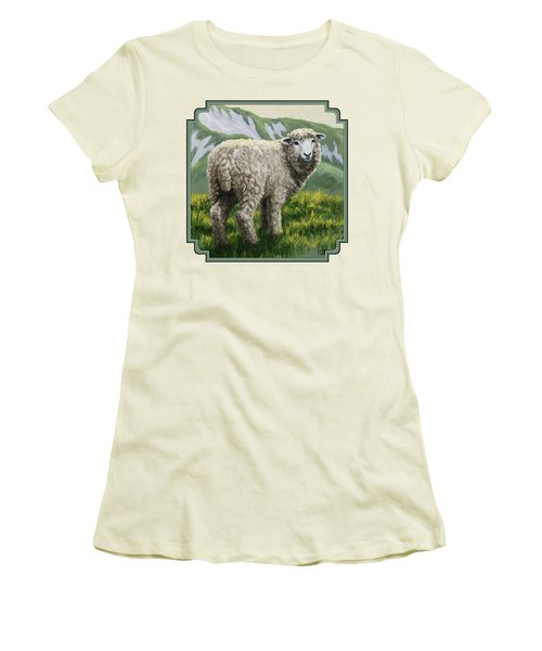 Highland Ewe Women's T-Shirt (Junior Cut) by Crista Forest