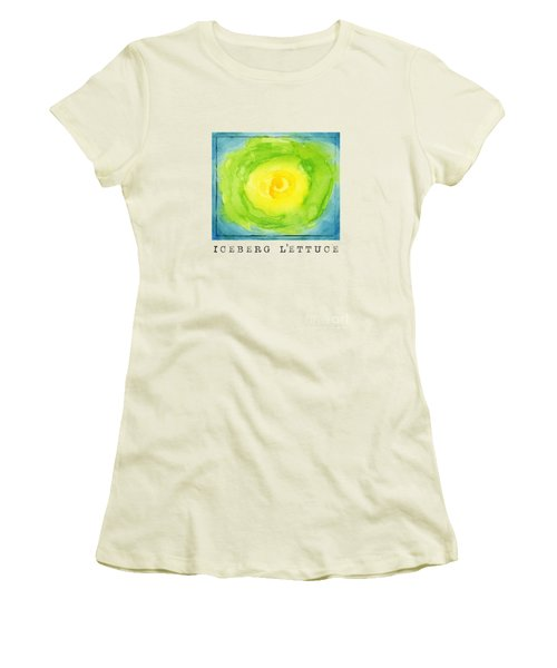 Abstract Iceberg Lettuce Women's T-Shirt (Junior Cut) by Kathleen Wong