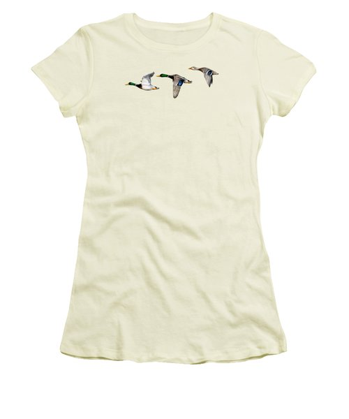Flying Mallards Women's T-Shirt (Athletic Fit)
