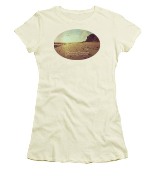 Women's T-Shirt (Junior Cut) featuring the photograph Forever Summer 9 by Linda Lees