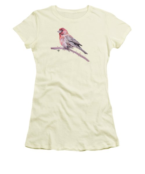 House Finch Women's T-Shirt (Junior Cut) by Angeles M Pomata