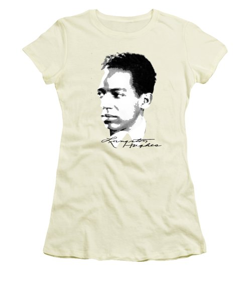 Langston Hughes Women's T-Shirt (Junior Cut) by Asok Mukhopadhyay