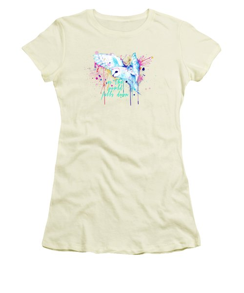 Rainbow Barn Owl Labyrinth Variant Women's T-Shirt (Athletic Fit)