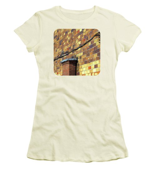 Women's T-Shirt (Junior Cut) featuring the photograph Bricks And Wires by Ethna Gillespie