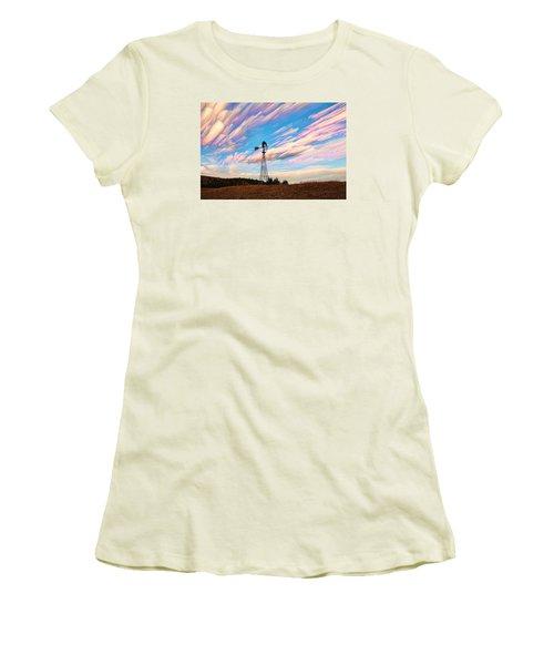 Crazy Wild Windmill Women's T-Shirt (Junior Cut) by Bill Kesler