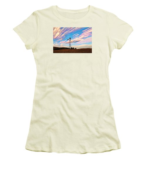 Crazy Wild Windmill Women's T-Shirt (Athletic Fit)