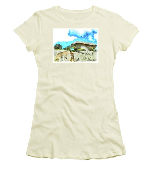 Arzachena Mushroom Rock Women's T-Shirt (Athletic Fit)