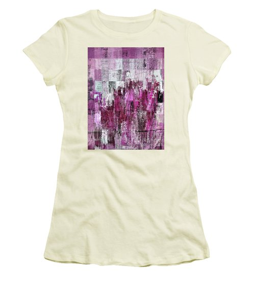 Women's T-Shirt (Junior Cut) featuring the digital art Ascension - C03xt-165at2c by Variance Collections