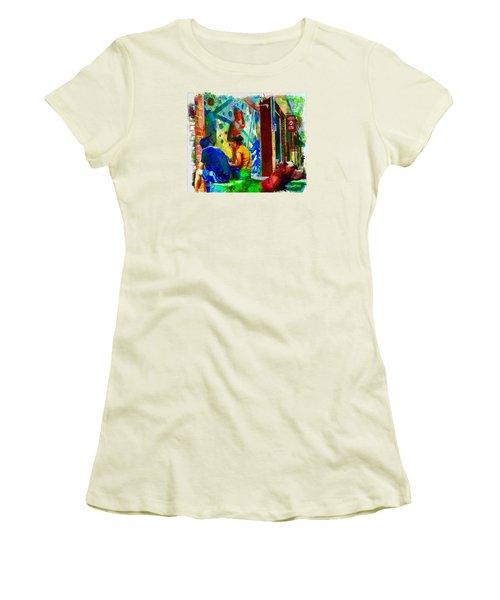 Ashville Art District Women's T-Shirt (Junior Cut) by Ted Azriel