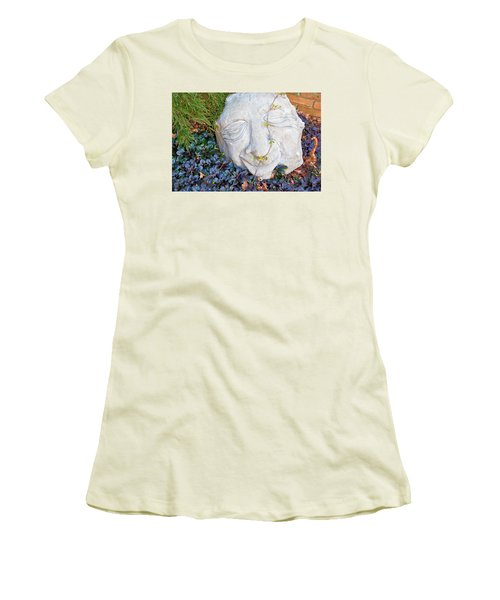 Women's T-Shirt (Junior Cut) featuring the photograph At Least Someone's Happy by Jan Amiss Photography
