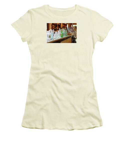 At The Store Women's T-Shirt (Junior Cut) by Steven Clipperton