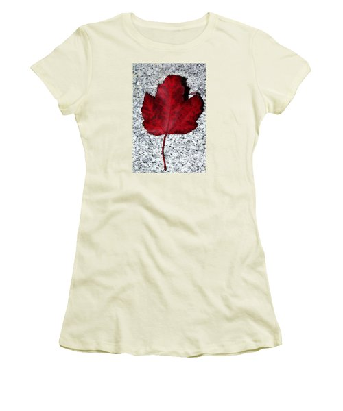 Autum Maple Leaf 1 Women's T-Shirt (Athletic Fit)