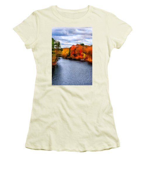 Autumn Channel Women's T-Shirt (Athletic Fit)