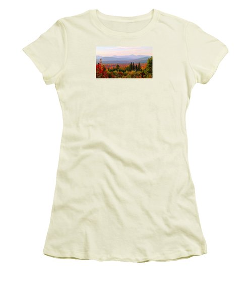 Autumn In Maine Women's T-Shirt (Athletic Fit)