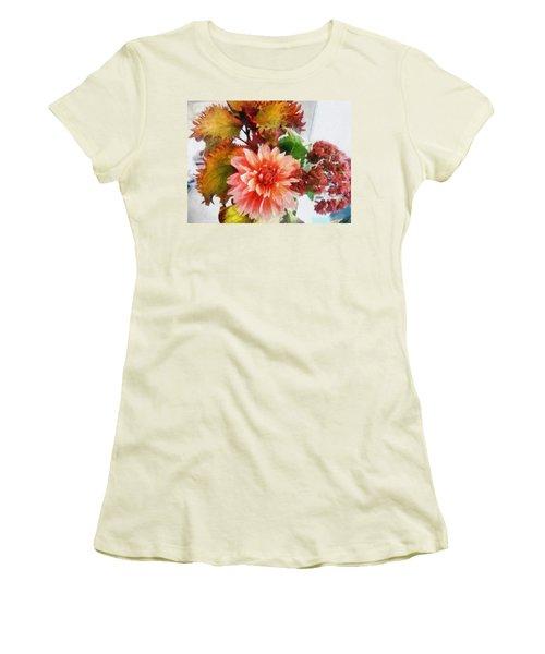 Autumn Joy Women's T-Shirt (Athletic Fit)
