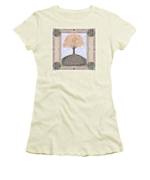 Autumn Tree Of Life Women's T-Shirt (Junior Cut) by Lise Winne