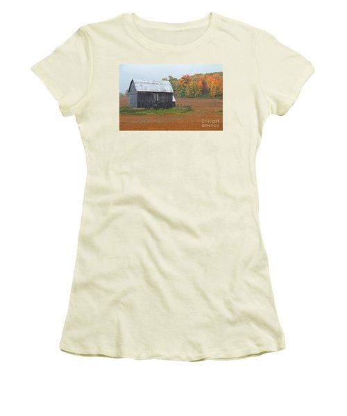Women's T-Shirt (Junior Cut) featuring the photograph Autumnal.. by Nina Stavlund