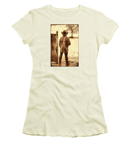 Back To Work Women's T-Shirt (Junior Cut) by American West Legend By Olivier Le Queinec