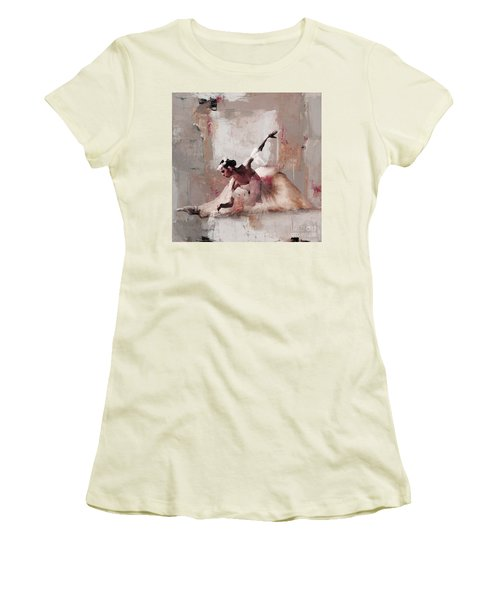 Ballerina Dance On The Floor 02 Women's T-Shirt (Junior Cut) by Gull G