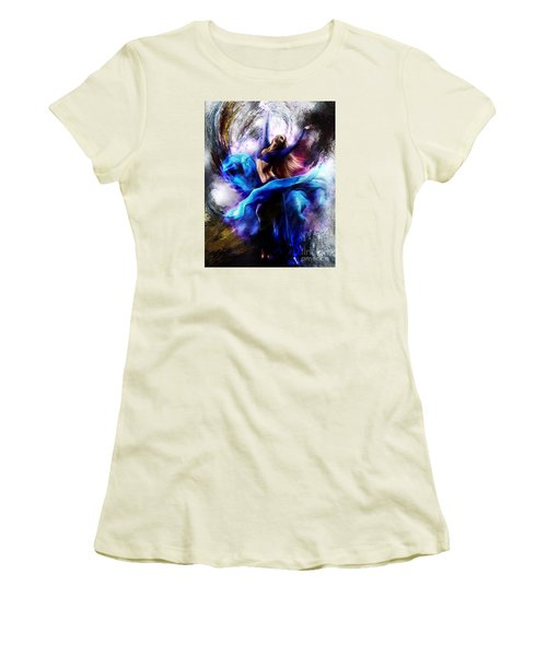 Ballerina Dance009-a Women's T-Shirt (Junior Cut) by Gull G