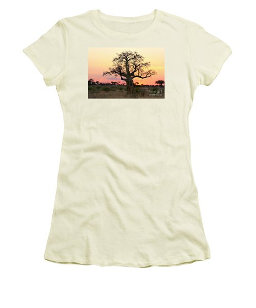 Baobab Tree At Sunset  Women's T-Shirt (Athletic Fit)