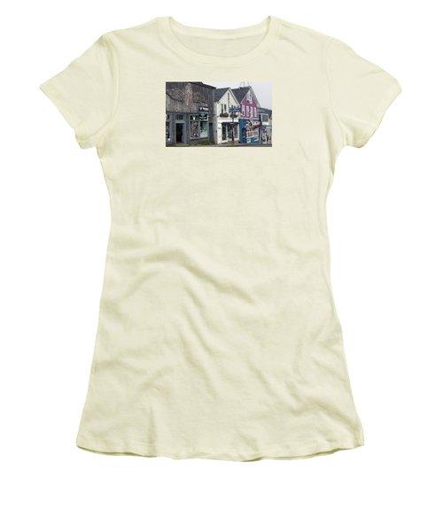 Bar Harbor Women's T-Shirt (Junior Cut) by Helen Haw