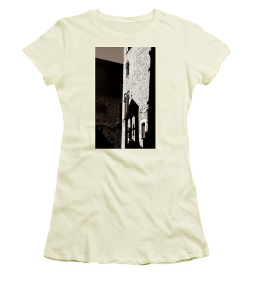 Women's T-Shirt (Junior Cut) featuring the photograph Barcelona 2b by Andrew Fare