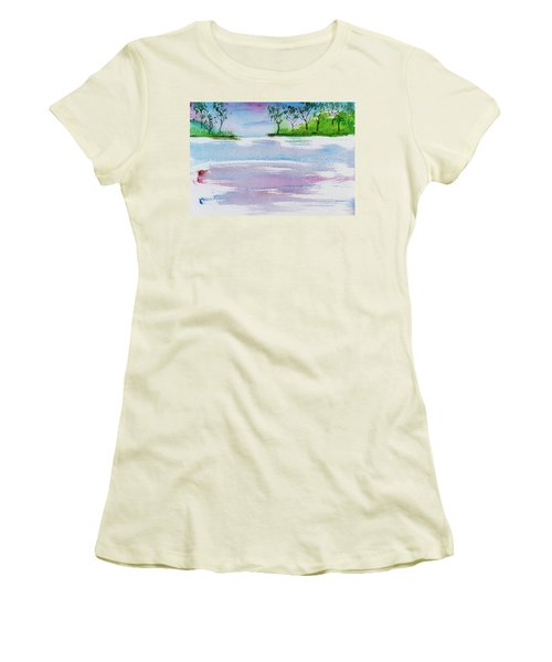 Gum Trees Frame The Sunset At Barnes Bay Women's T-Shirt (Athletic Fit)