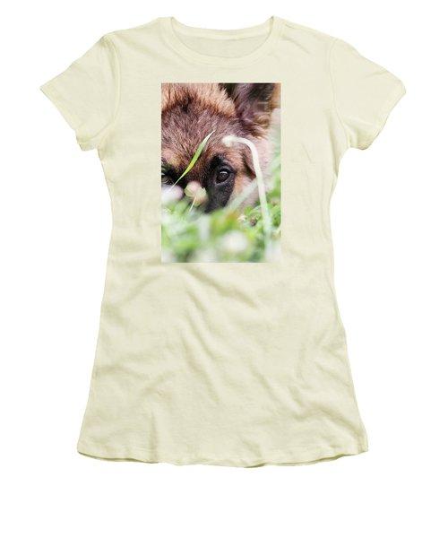 Bashful Women's T-Shirt (Junior Cut) by Stephanie Frey