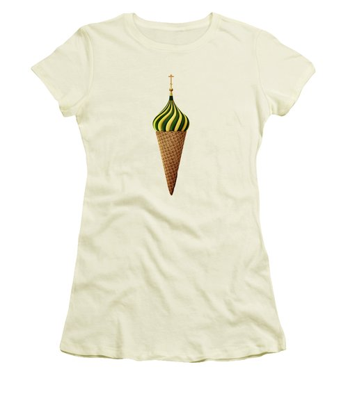 Basil Flavoured Women's T-Shirt (Junior Cut) by Nicholas Ely