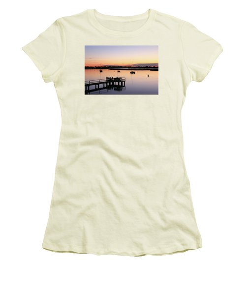 Bass River Before Sunrise Women's T-Shirt (Junior Cut) by Roupen  Baker