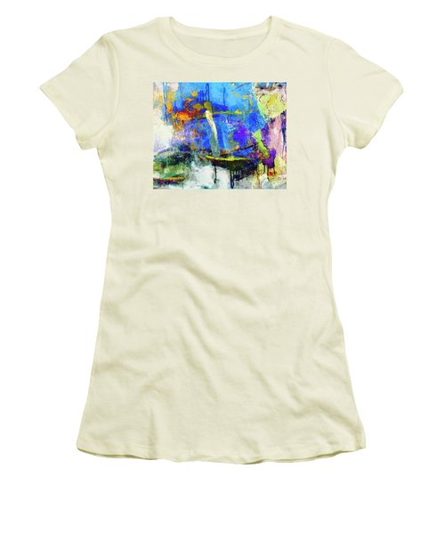 Women's T-Shirt (Junior Cut) featuring the painting Bayou Teche by Dominic Piperata