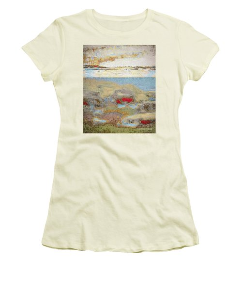 Women's T-Shirt (Junior Cut) featuring the photograph Beach Dunes by William Wyckoff
