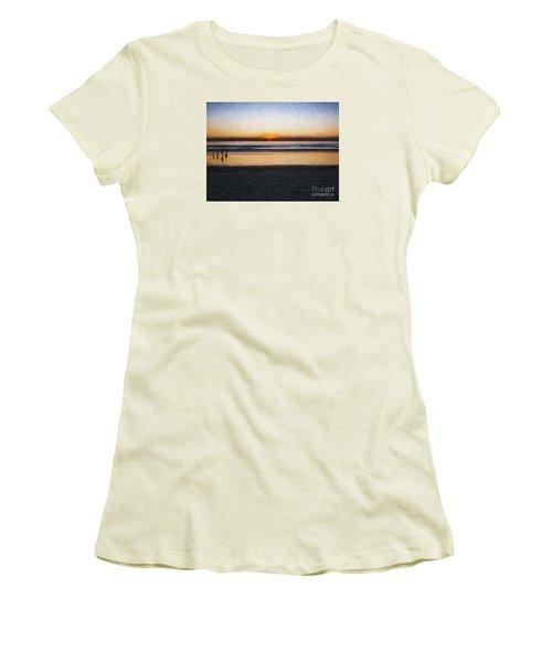 Beach Family  ... Women's T-Shirt (Junior Cut) by Chuck Caramella