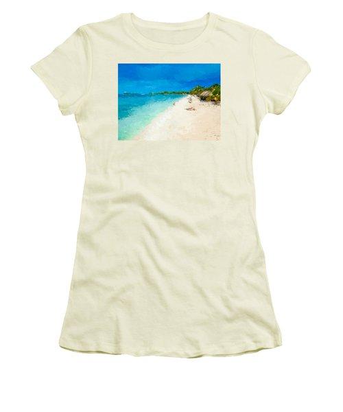 Beach Holiday  Women's T-Shirt (Junior Cut) by Anthony Fishburne