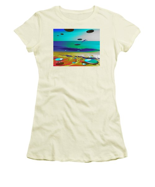 Beach Orbs Women's T-Shirt (Athletic Fit)