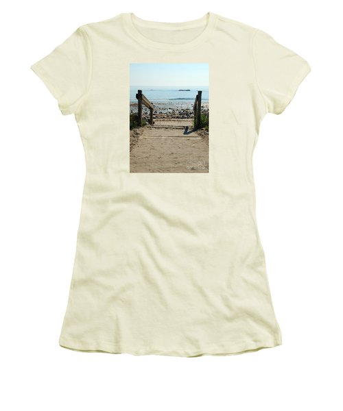 Beach Path Women's T-Shirt (Athletic Fit)