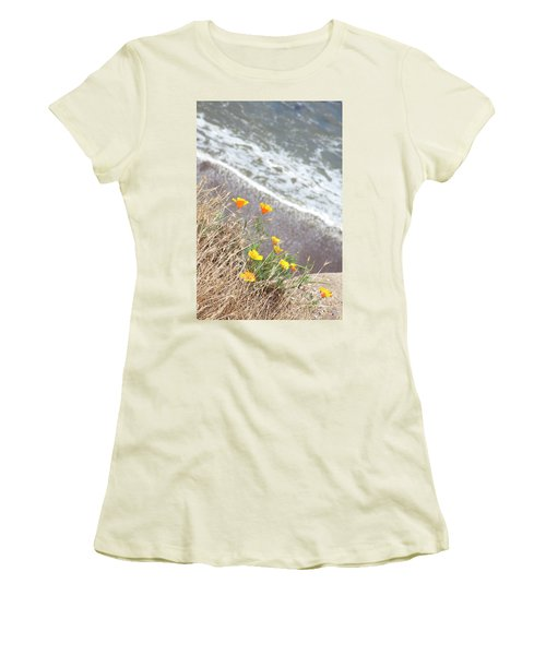 Beach Poppies Women's T-Shirt (Athletic Fit)