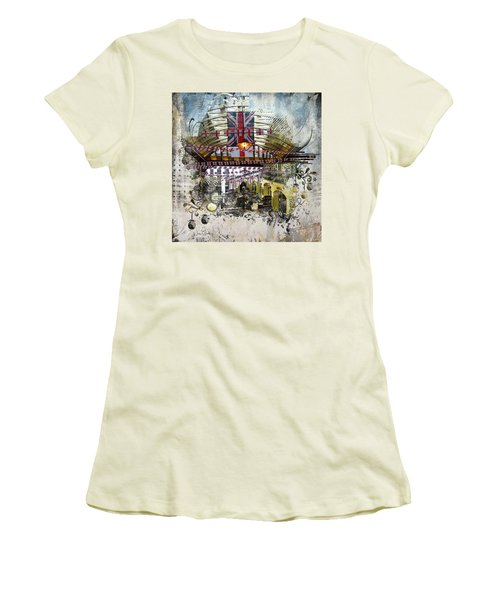 Beating Heart Women's T-Shirt (Junior Cut) by Nicky Jameson