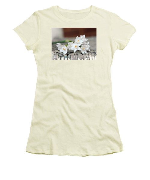 Beautiful Spring Paperwhites Women's T-Shirt (Athletic Fit)