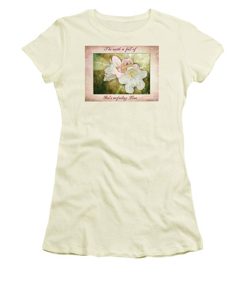 Beauty Of A Rhododendron Women's T-Shirt (Athletic Fit)