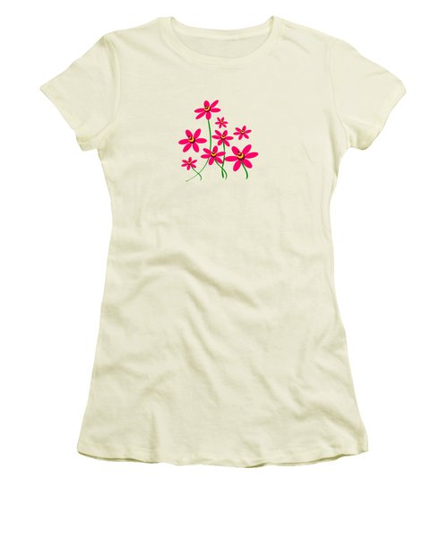 Bee Flowers Women's T-Shirt (Athletic Fit)